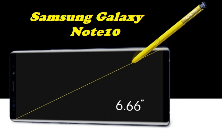 Samsung Galaxy Note10 to come with a 6.66 inch display