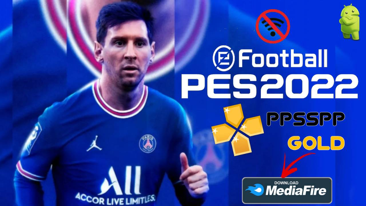 PES 2022 Offline Android PPSSPP Messi on PSG Download